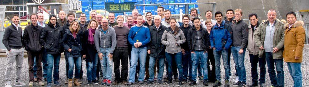 Hapa service technicians group photo