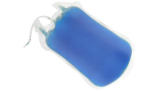Low-migration ink for infusion bags