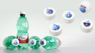 Vierfarbigen Direktdruck von Hapa für Markenkampagne Letemoji